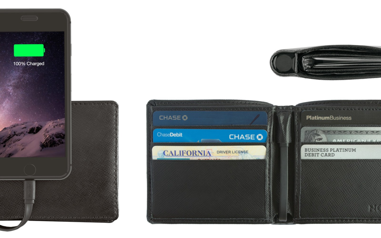 Nomad debuts Wallet for iPhone, hiding a 2400mAh Lightning battery in a traditional bifold wallet