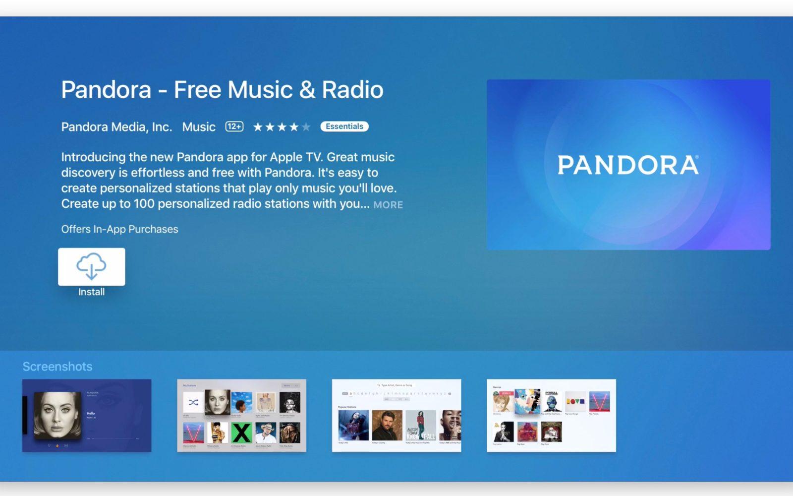 pandora free music login