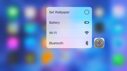 iOS 9.3 3D Touch