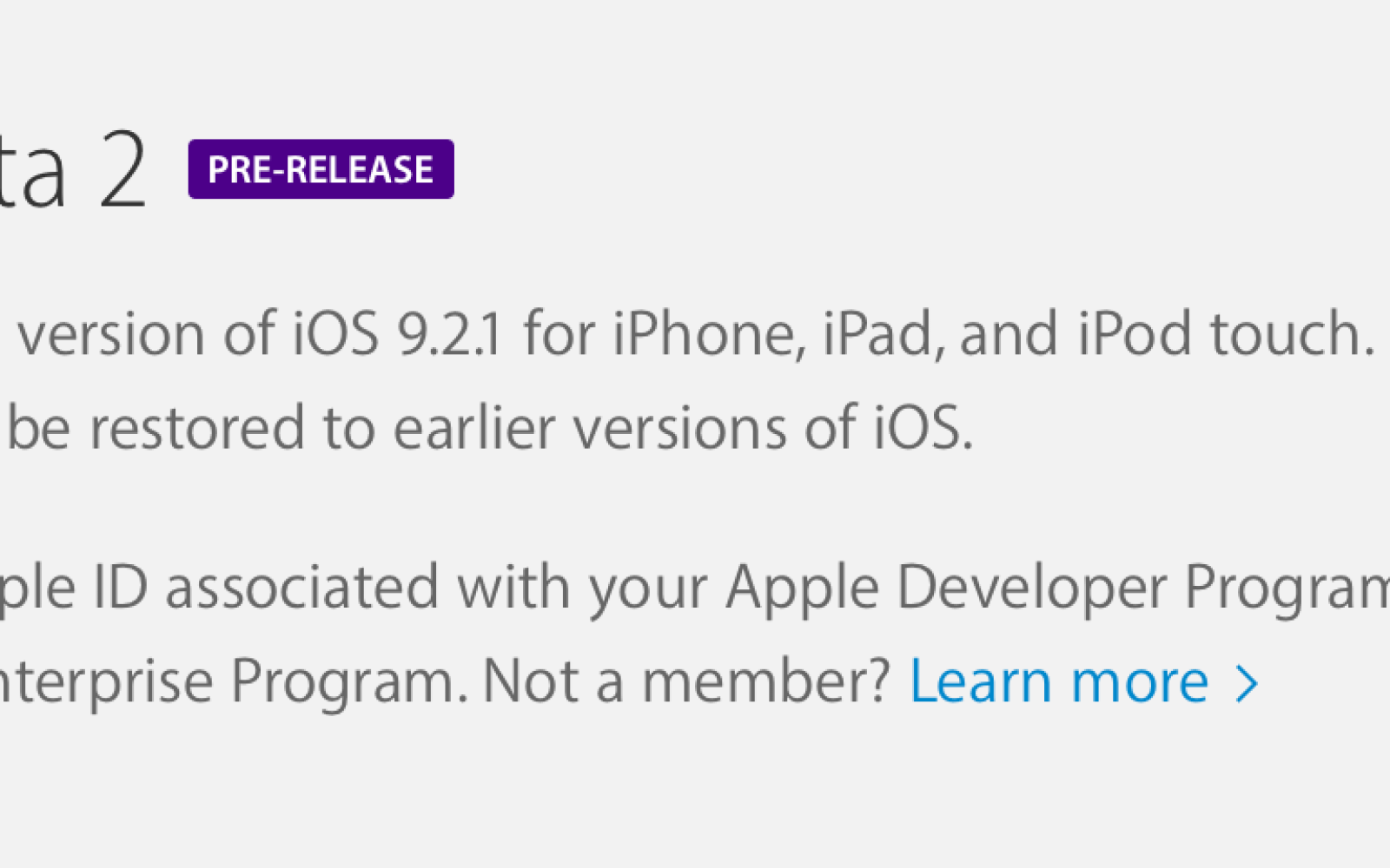 Apple releases iOS 9.2.1 beta 2 for developers and public beta testers