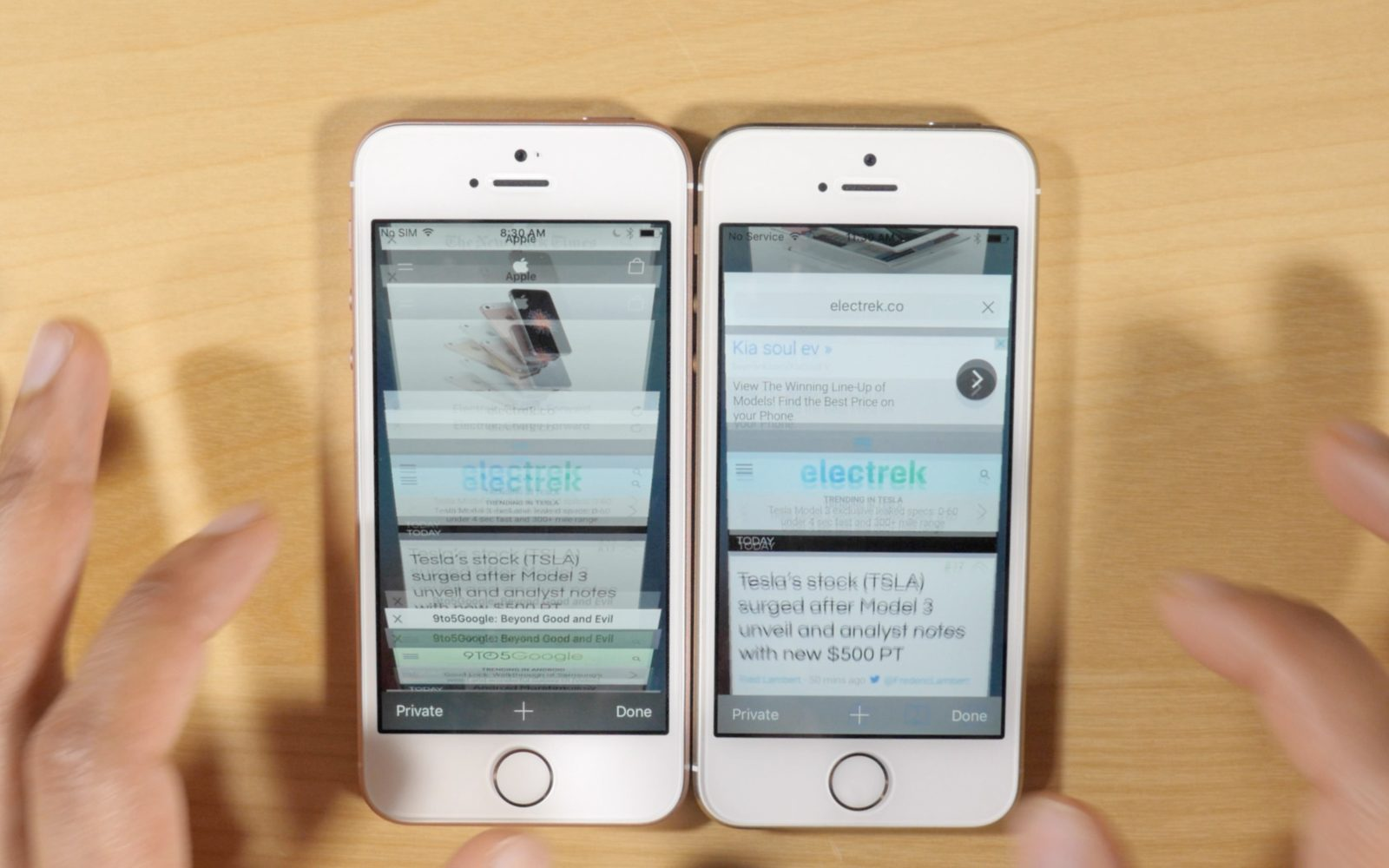 iPhone 5s vs iPhone SE: As expected, 2GB RAM makes a big