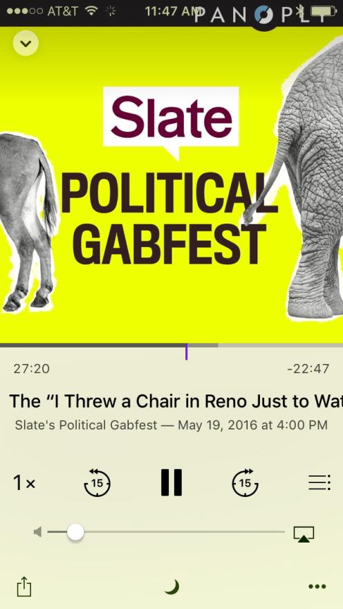 Podcasts status bar 2