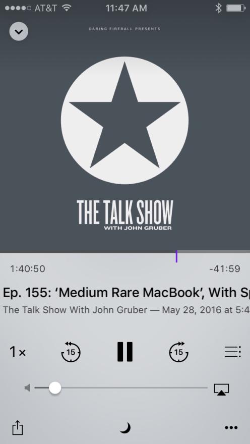 Podcasts status bar 4