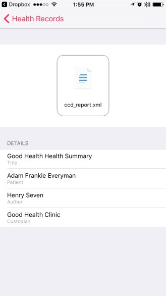 Health Records in iOS 10 - Full preview
