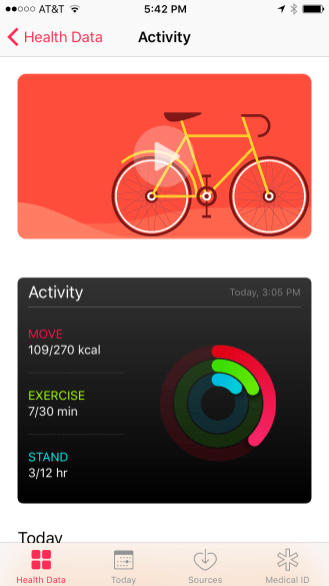 Health - Activity View