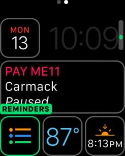 watchOS 3 Complication - Reminders