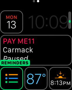 watchOS 3 Complication - Reminders