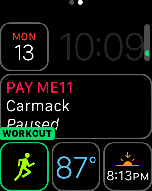 watchOS 3 Complication - Workout