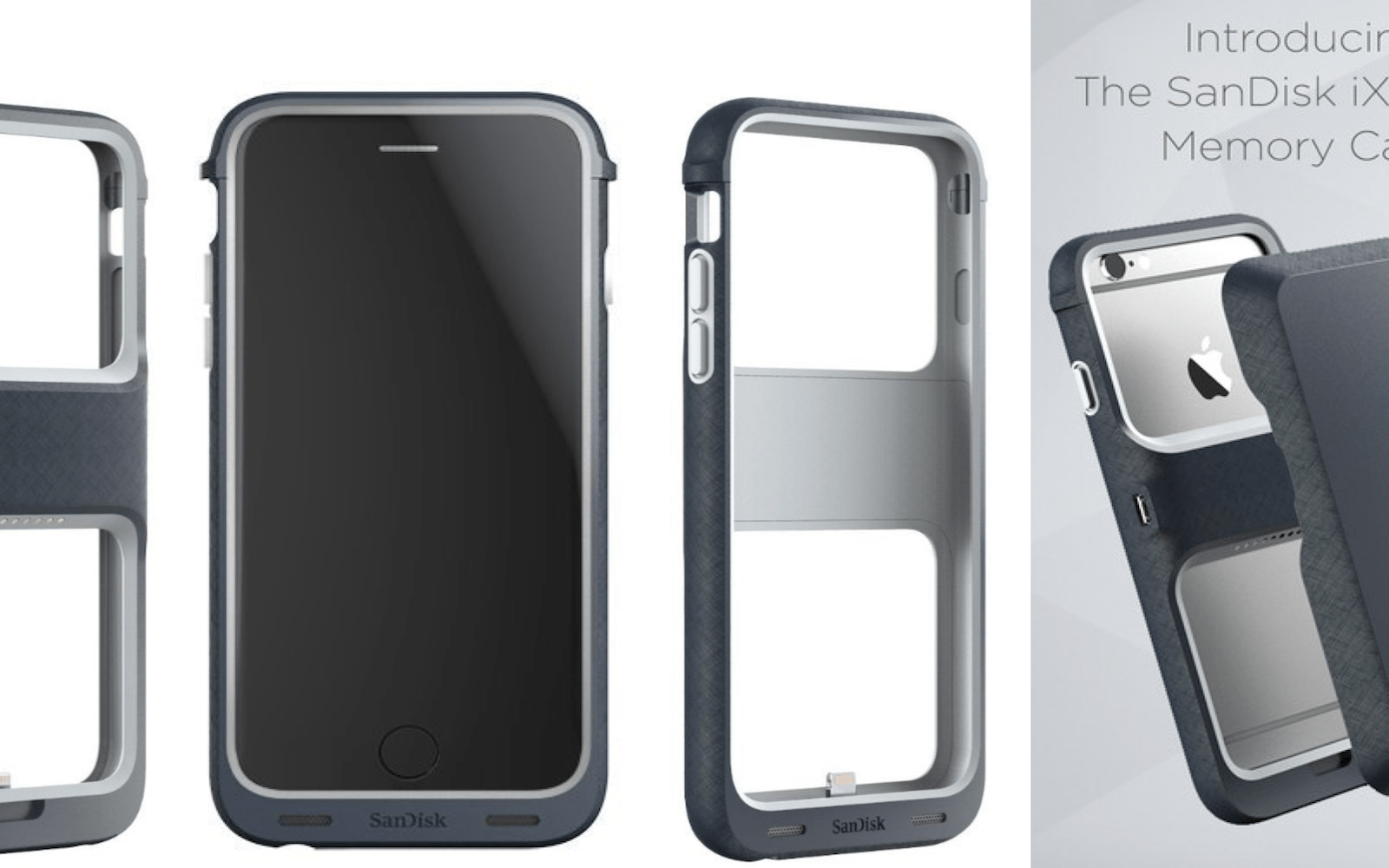 SanDisk's Memory Case puts a Lightning flash drive in a sleek iPhone case w/ optional battery pack