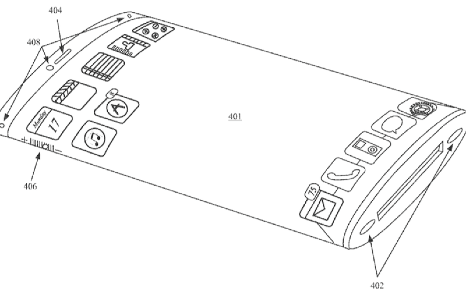 Apple granted patent for iPhone with 360-degree wraparound curved display