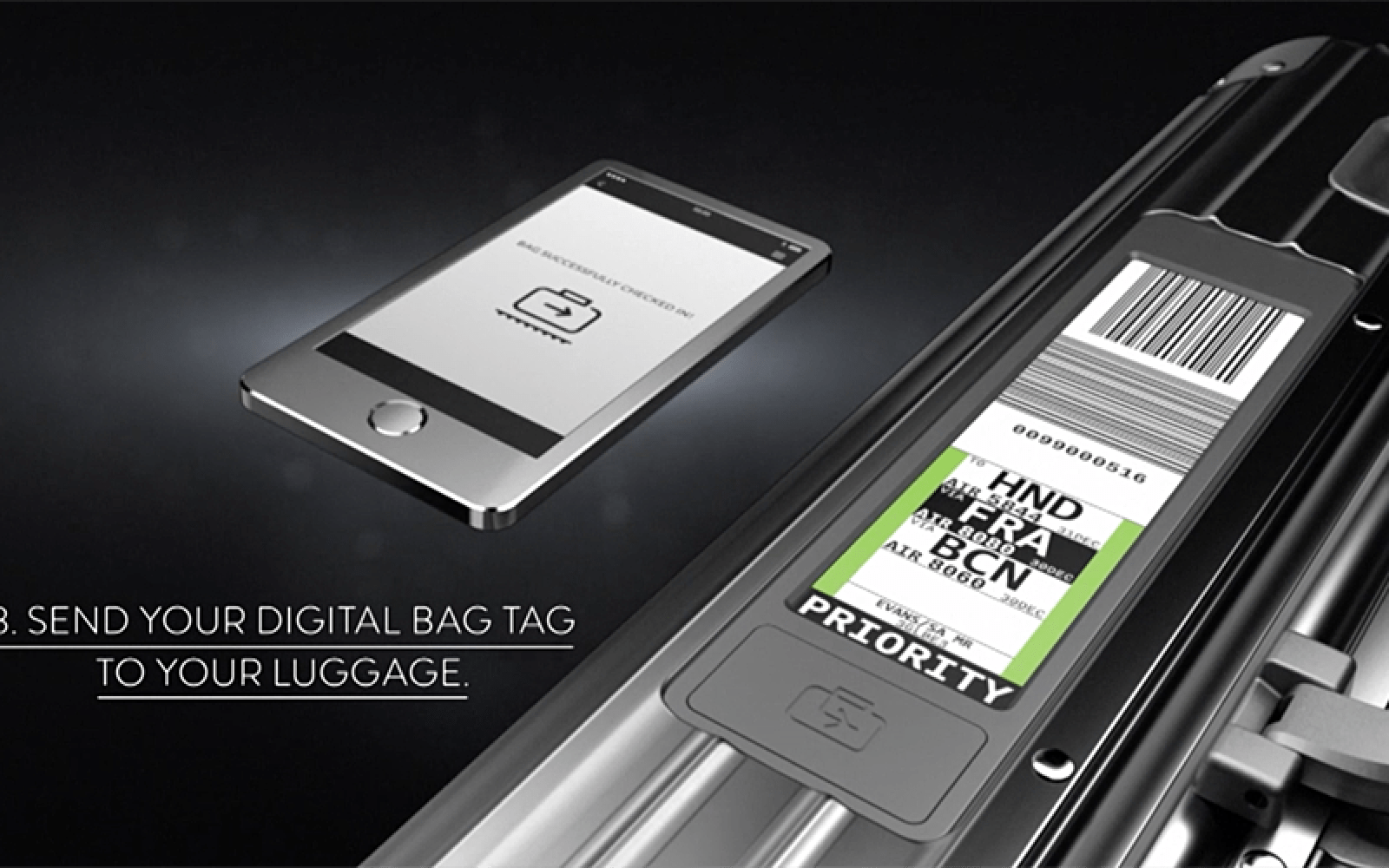 Ios App Plus E Ink Display Lets You Skip The Baggage Drop Queues Working Of Electronic Technology With Rimowas Latest Luggage