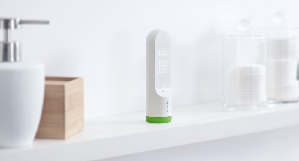 Withings Thermo on countertop