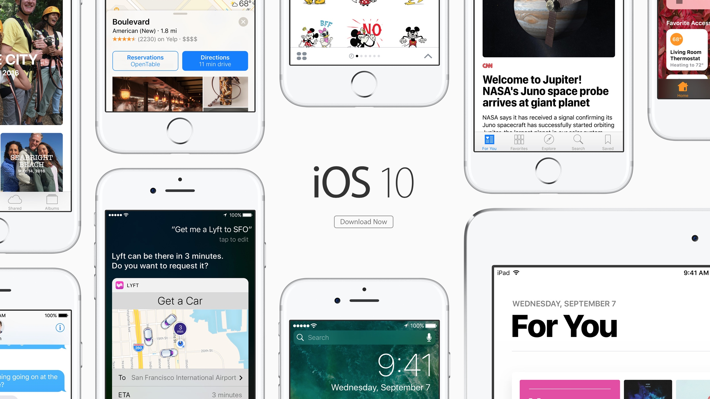 Apple releases iOS 10 for iPhone, iPad and iPod touch to the public