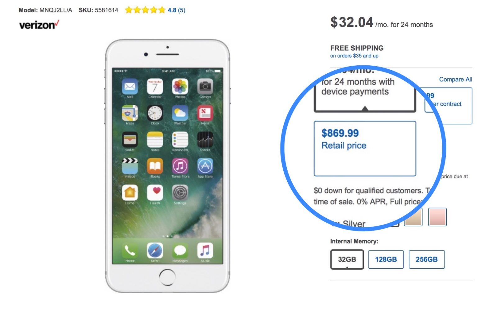 03c480b0c5a PSA: Careful out there, Best Buy is charging $50 to $100 over full MSRP for  the iPhone 7