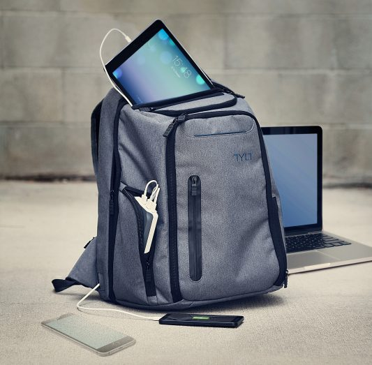Tylt Energi Pro with iPad, Mac, and phone