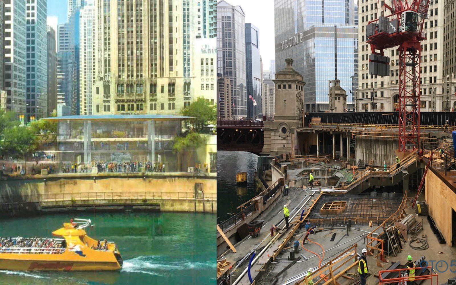 Apple's new stunning flagship waterfront retail store in Chicago begins to take shape [Gallery]