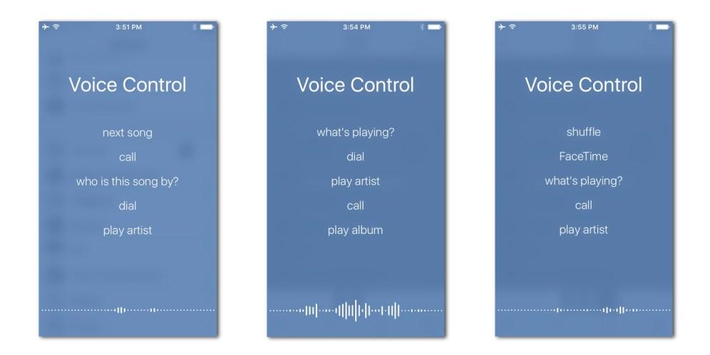 Voice Control on iOS 10 on an iPhone 5s