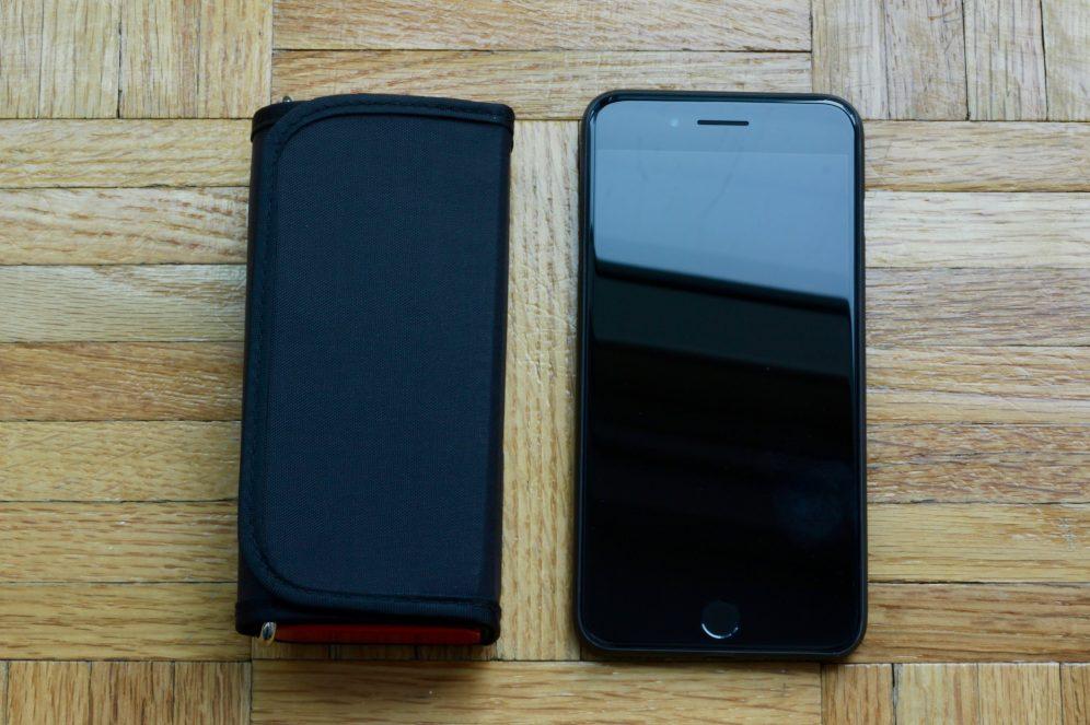 QardioArm size comparison to the iPhone 7 Plus