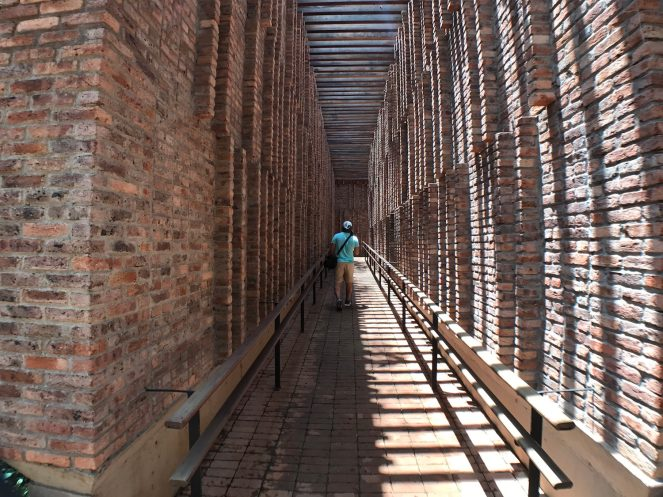 Brick walkway with Aukey lens