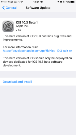 Apple releases iOS 10 3 public beta 2 for iPhone and iPad