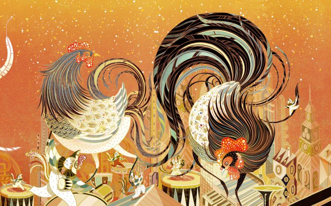 lucky rooster by victo ngai