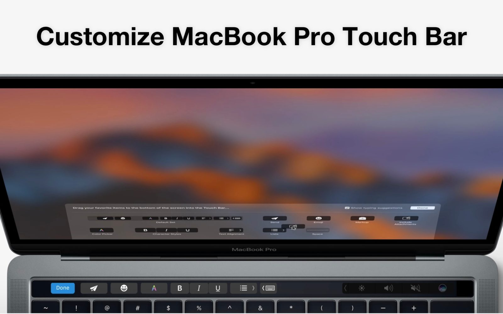 How to customize the MacBook Pro Touch Bar, add shortcuts, hide