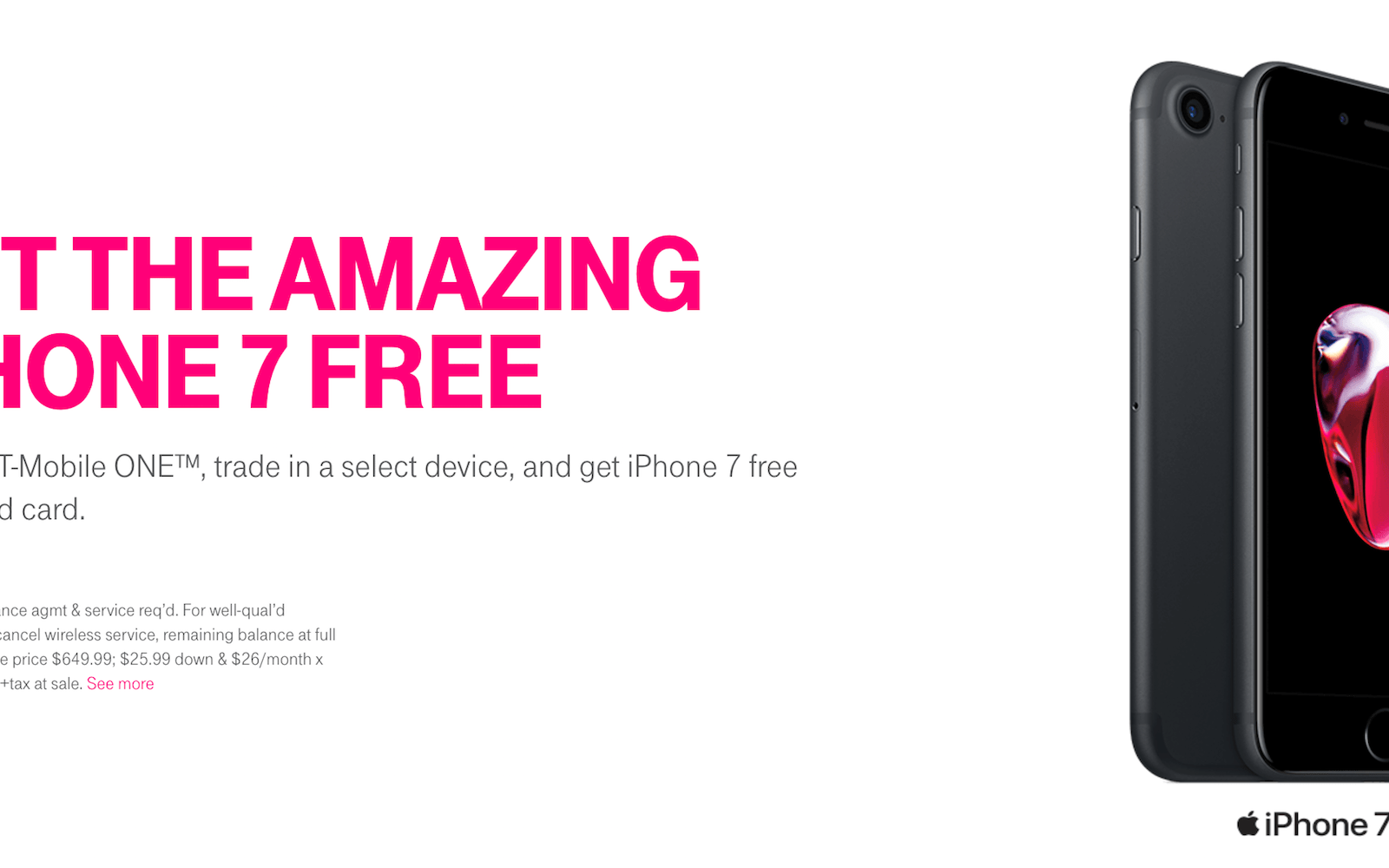 T-Mobile announces free iPhone 7 promo for switchers + free MLB.TV & At Bat Premium for all customers