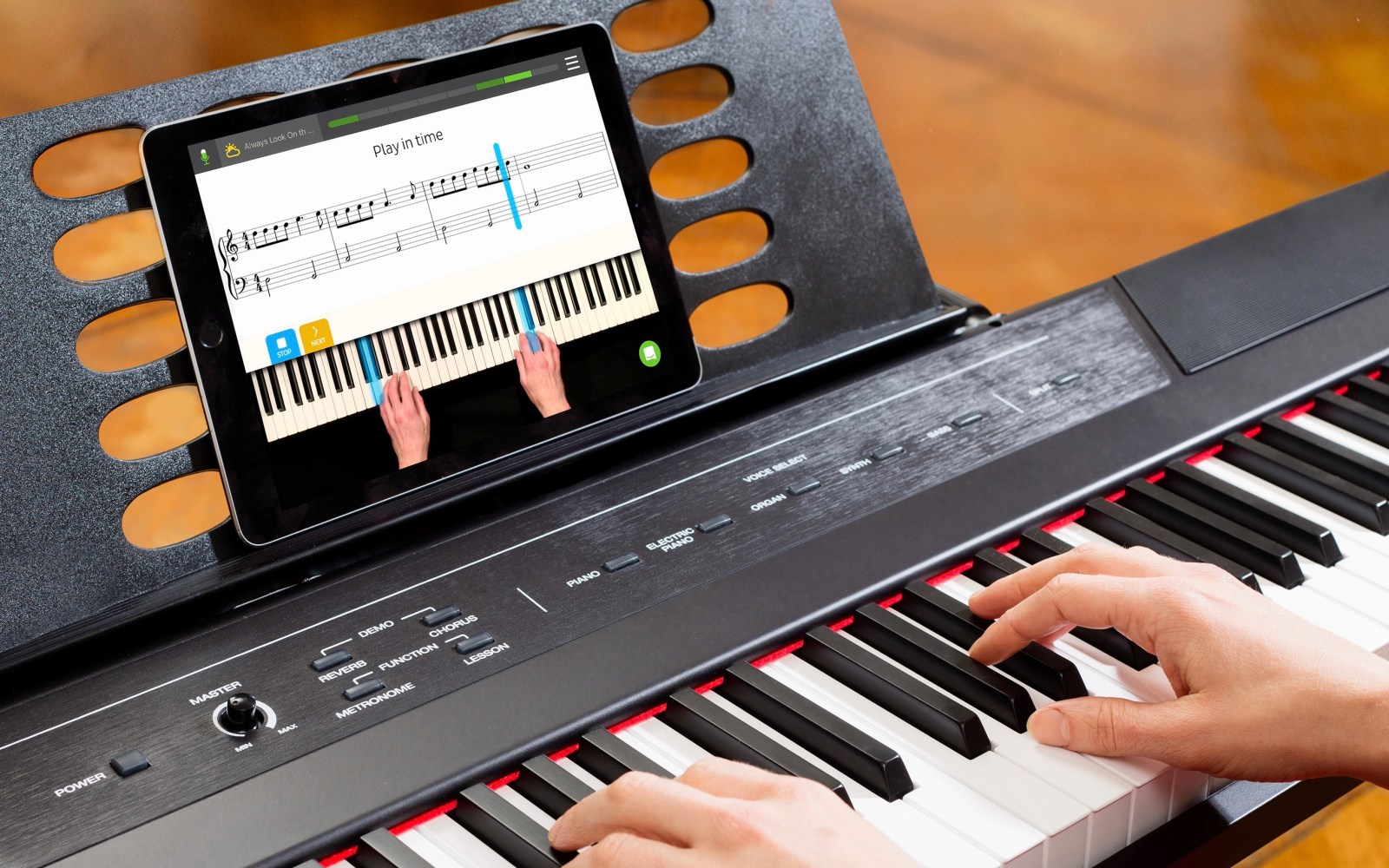 Skoove is a new iOS app that transforms your iPad into a private piano instructor