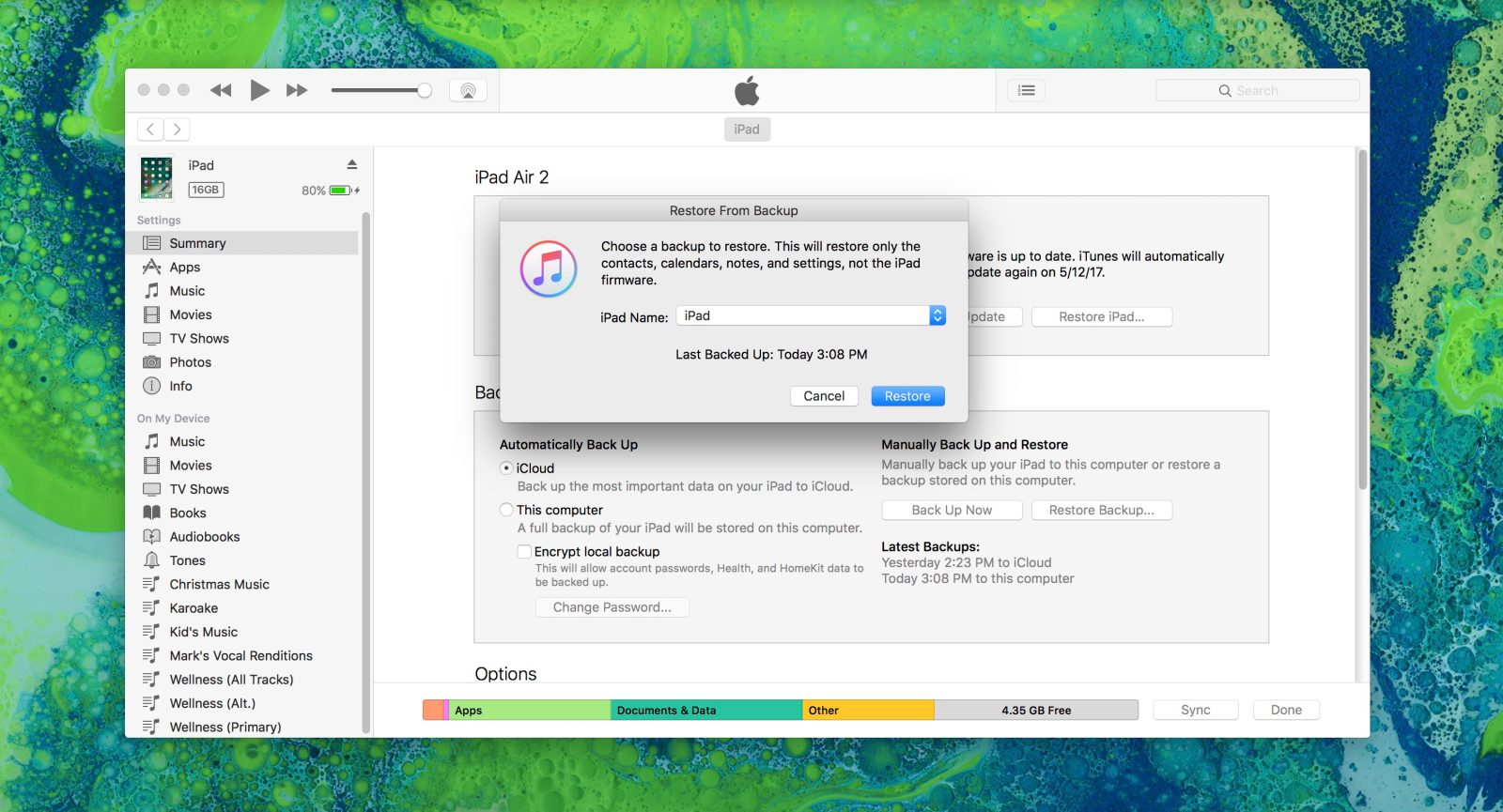 How to restore iPad from iTunes Backup - 9to5Mac