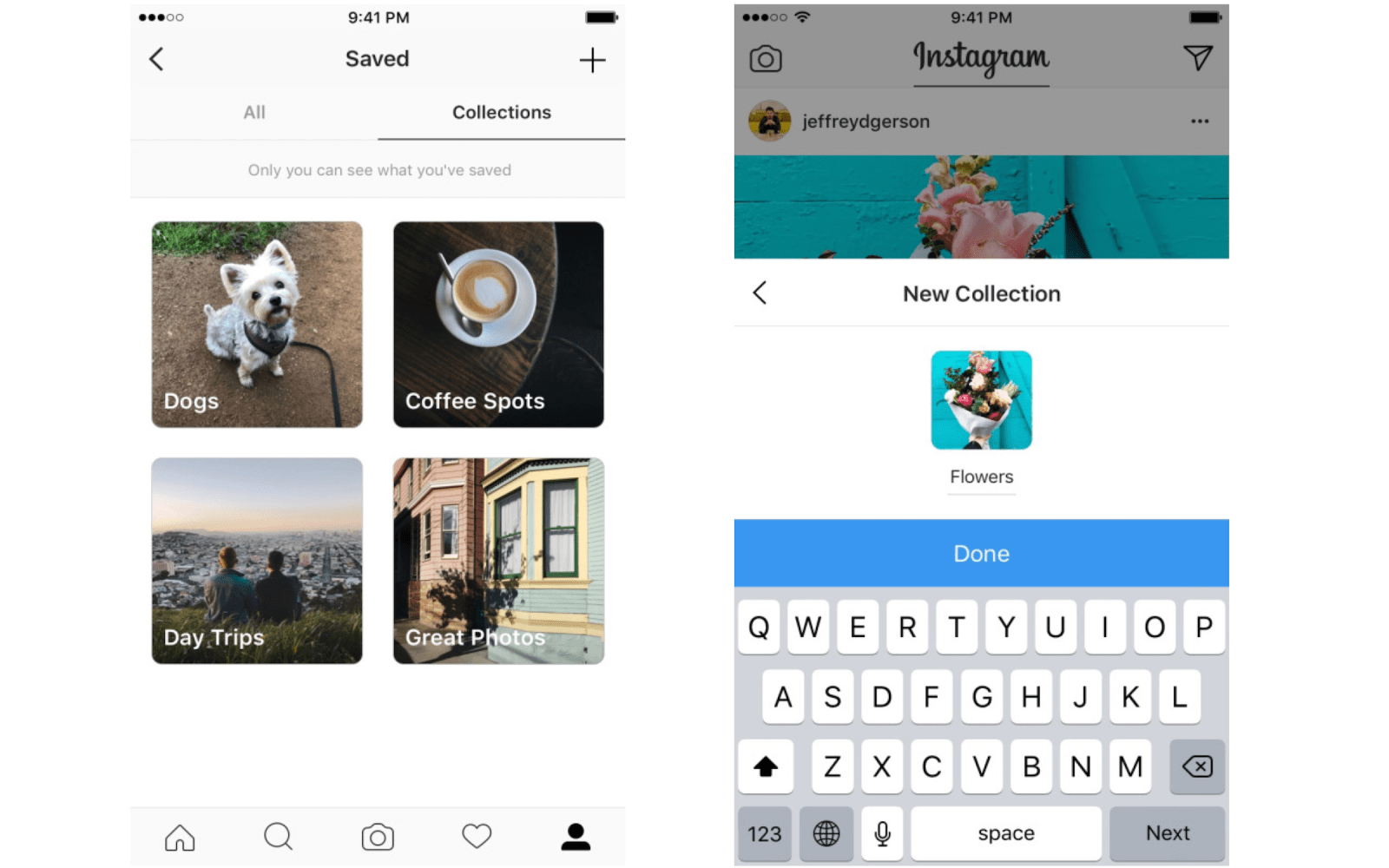 Instagram now lets you organize saved posts in private