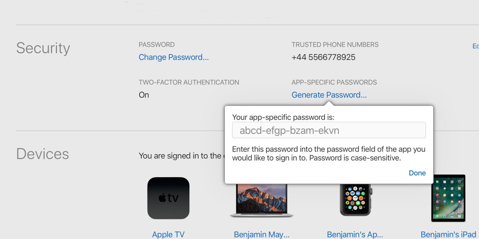 App specific passwords will be required to sign in to iCloud