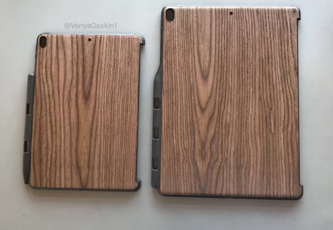 Purported wood cases for new 2017 iPad Pros