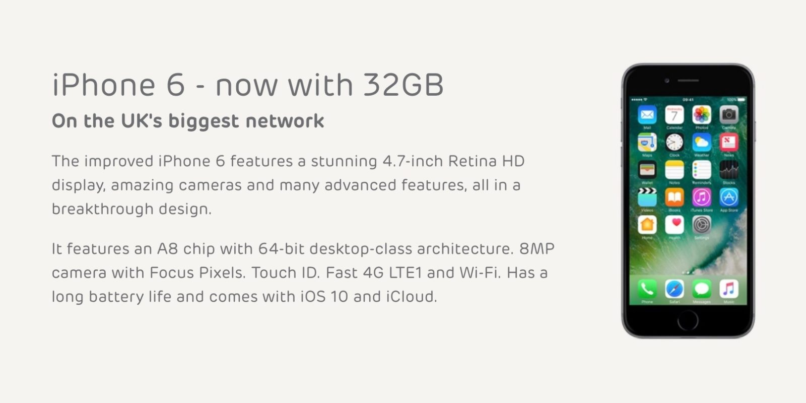 fdb500d6284 Apple s re-launched 32 GB iPhone 6 now on sale in the UK - 9to5Mac