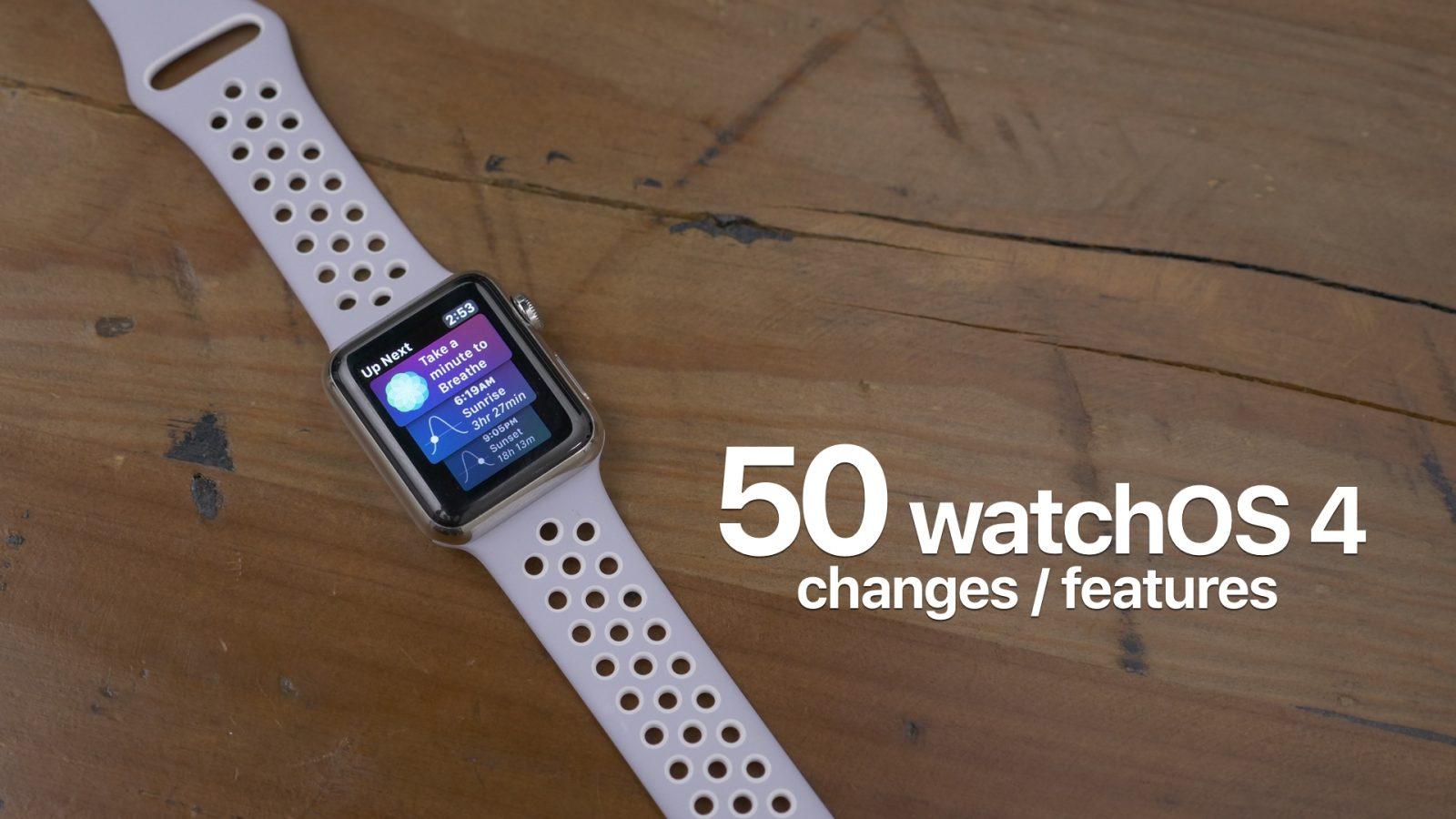 Watchos 4 beta 5 new features