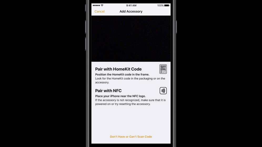 HomeKit Pairing with QR and NFC