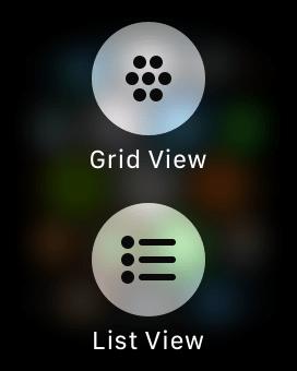watchOS 4 App Screen Options
