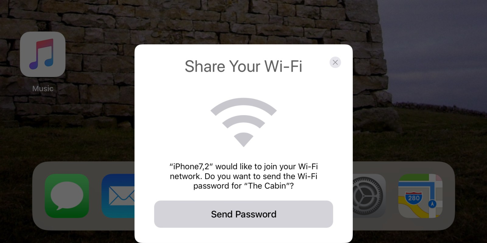 Easily share your WiFi with friends on iOS 11, automatically sends passwords to nearby devices