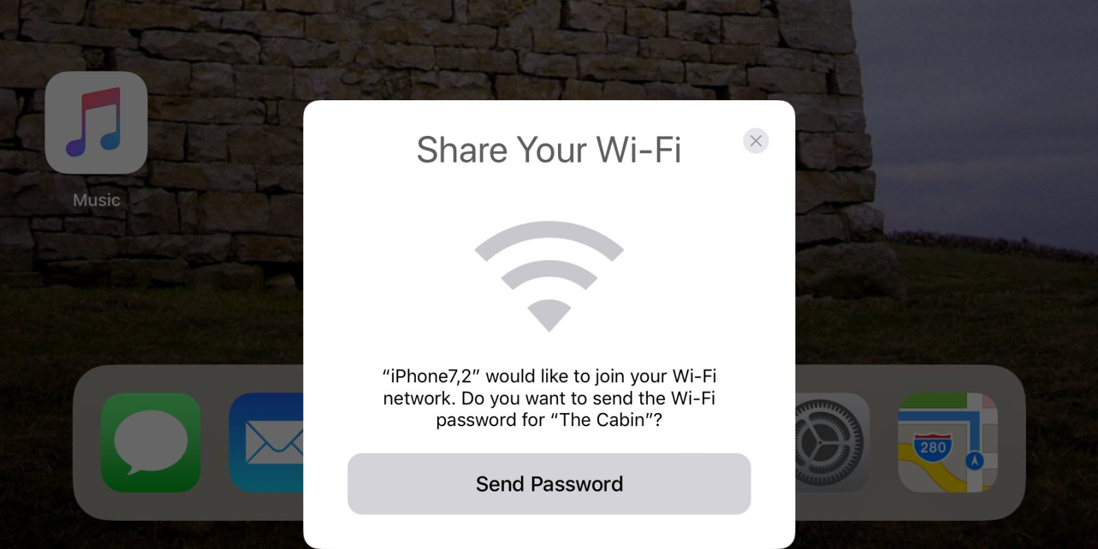 easily share your wifi with friends on ios 11 automatically sends