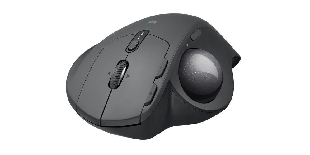 Logitech MX Ergo trackball mouse head-on