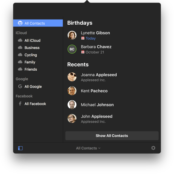 Cardhop for mac is a seriously intelligent contacts app from the groups reheart Choice Image