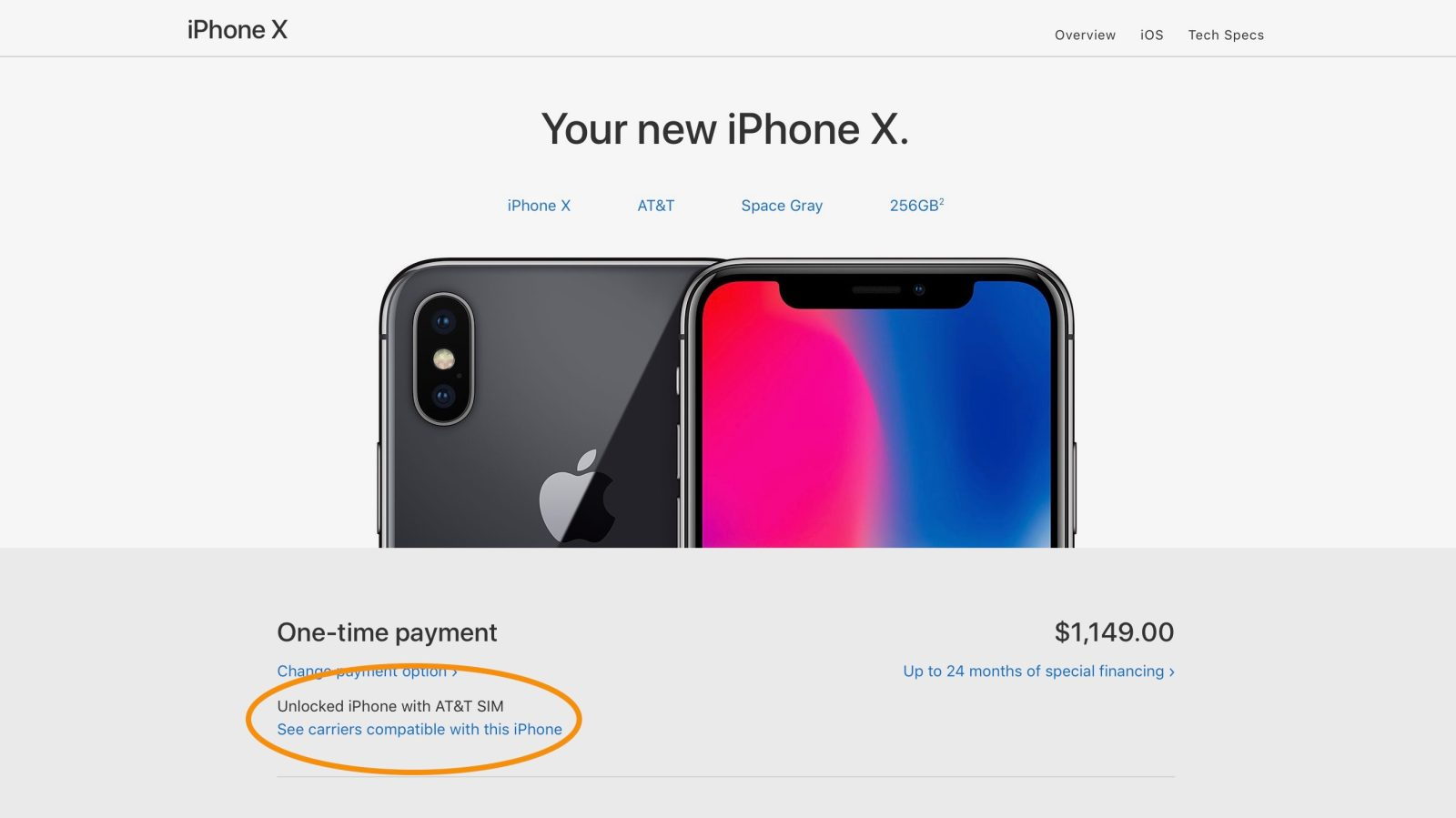 hight resolution of carrier compatibility for the various iphone x models