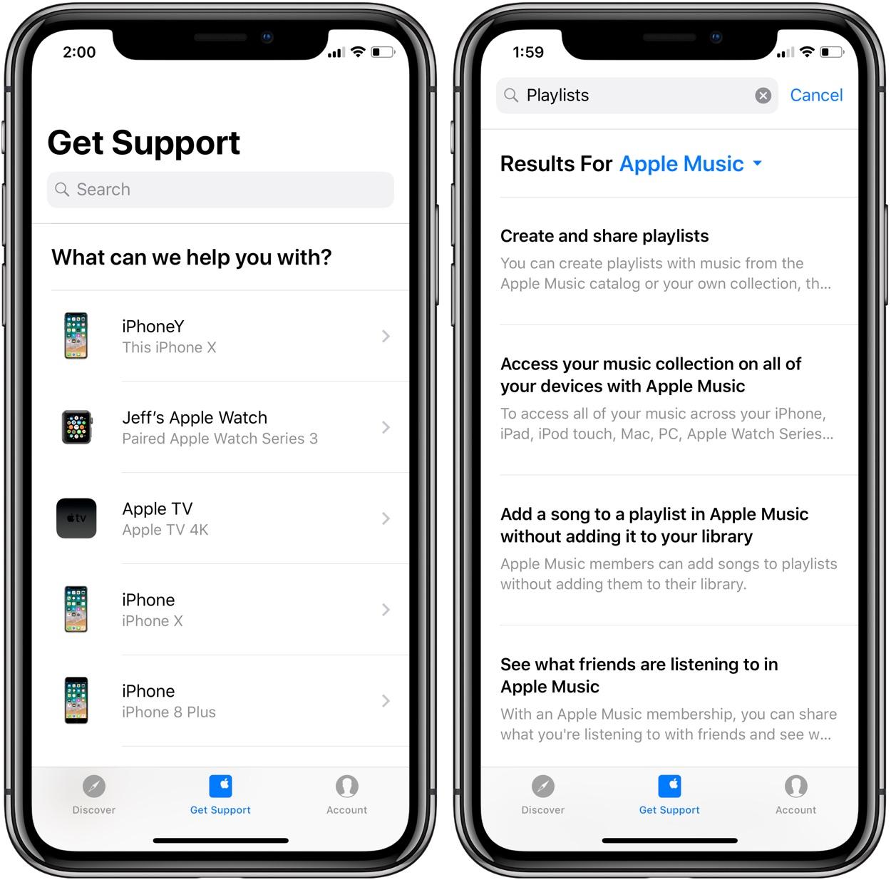 apple updates support app