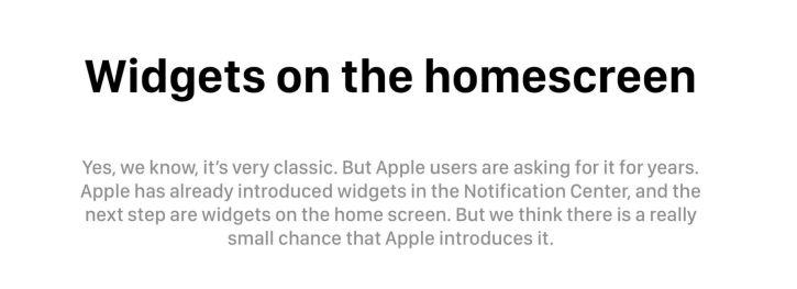 13 iOS 12 wishlist widgets