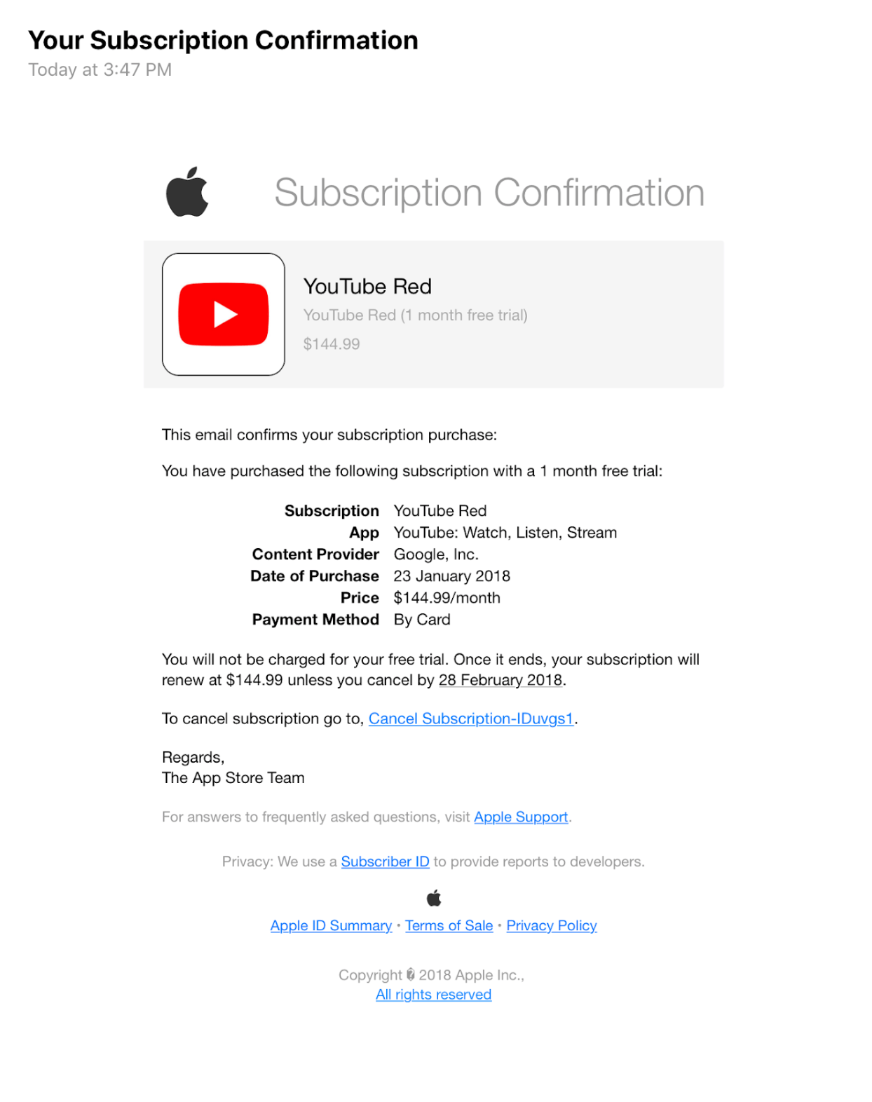 In terms of usage, it's an identical replacement for a regular credit card, which can be very. Psa Watch Out For These Convincing App Store Subscription Phishing Emails 9to5mac