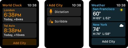 watchOS 5 add cities