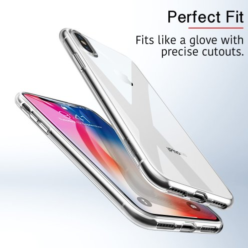 ESR's Slim Clear Soft TPU Case for iPhone Xs-3