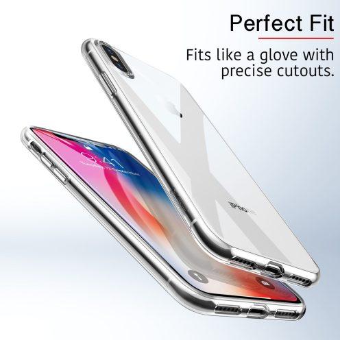 ESR's Slim Clear Soft TPU Case for iPhone Xs-3