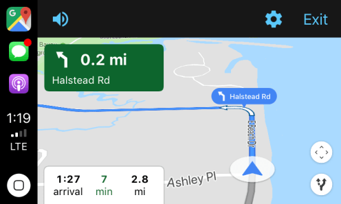 google maps carplay 5