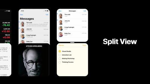 iPhone 11 concept Split View
