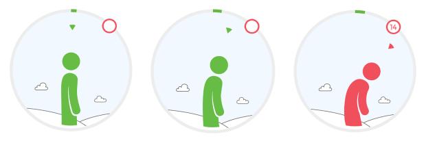 Upright Go app in use
